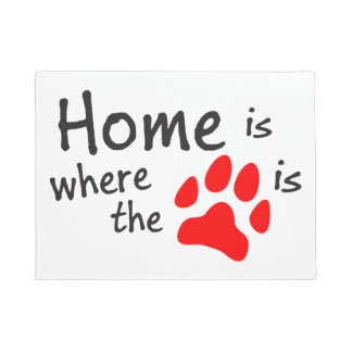 Home is where the paw print is doormat