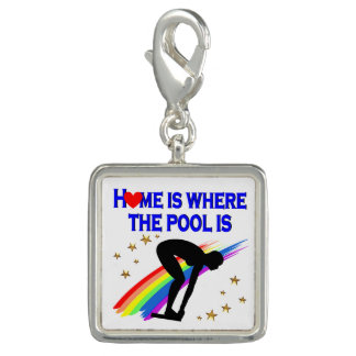 HOME IS WHERE THE POOL IS FOR THIS SWIMMER