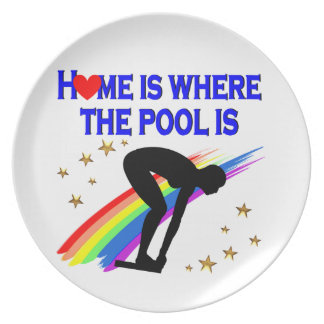 HOME IS WHERE THE POOL IS FOR THIS SWIMMER PLATE