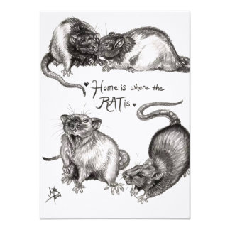 Home is where the rat is card