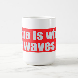 Home Is Where The Waves Are Basic White Mug