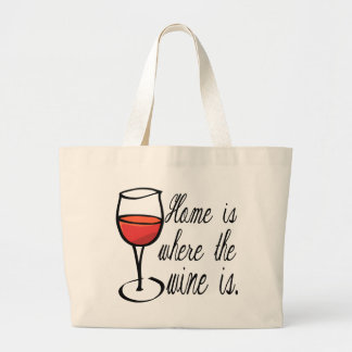 Home Is Where The Wine Is Jumbo Tote Bag