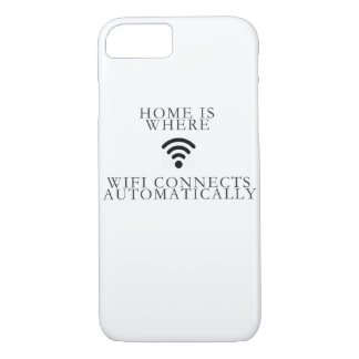 home is where... wifi connects automatically iPhone 8/7 case