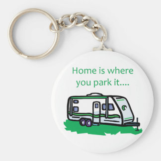 Home is where you park it. basic round button key ring