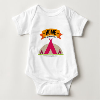 Home is where you pitch it... baby bodysuit