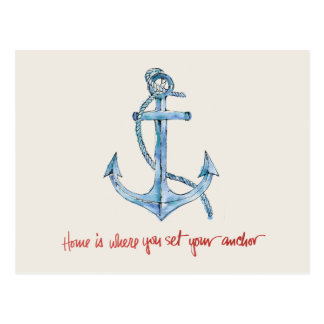 Home is Where You Set Your Anchor Postcard