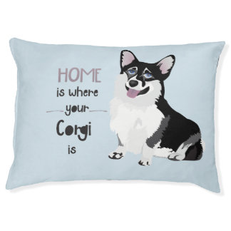 HOME IS WHERE YOUR CORGI IS - CUTE DOG PUPPY PET BED