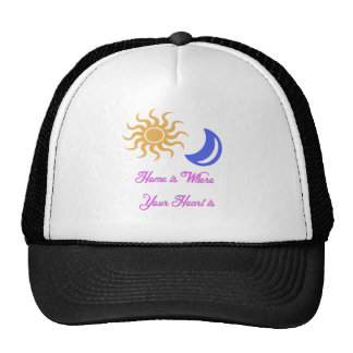 Home is where your heart is, sun and moon hats