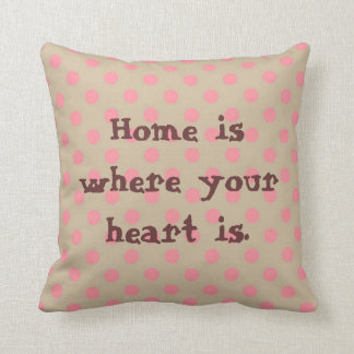 Home is where your heart is. throw cushion
