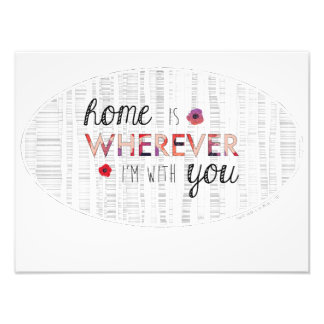 Home Is Wherever I'm With You Oval Photo Art
