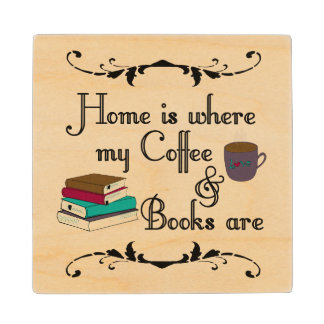 Home is wood coaster