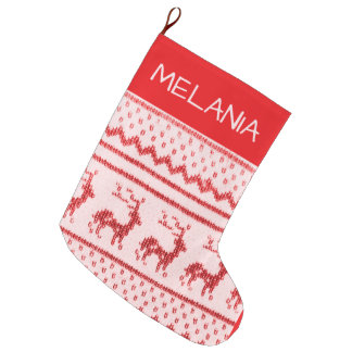 Home knitted Christmas stocking