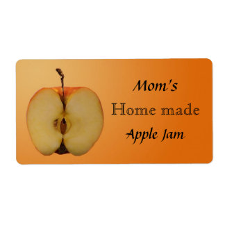 Home Made Apple Jam Jar Label Shipping Label