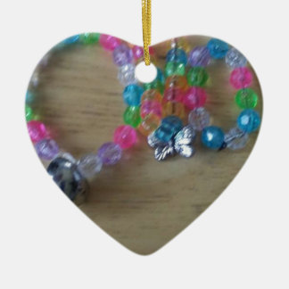 home made beaded braclets ceramic heart decoration