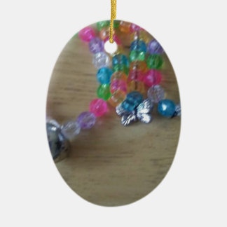 home made beaded braclets ceramic ornament
