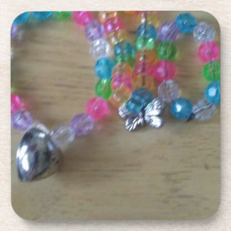 home made beaded braclets coaster