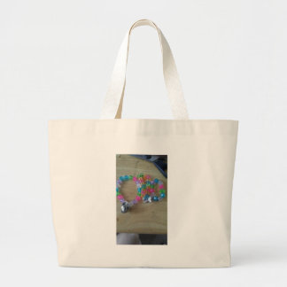 home made beaded braclets large tote bag