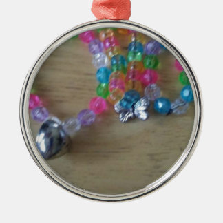 home made beaded braclets Silver-Colored round decoration