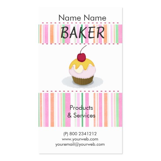 Home Made Cakes Cupcakes & Confections Business Card