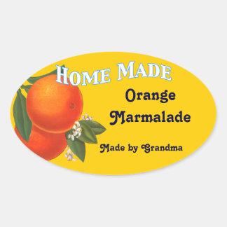 Home Made Custom Orange Marmalade Stickers
