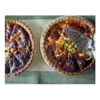 Home-made quiche for breakfast postcard