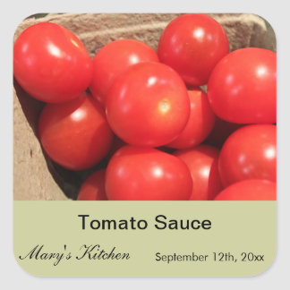 Home made tomato sauce bottle labels stickers