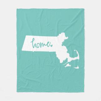 Home Massachusetts Custom Color Fleece Blanket