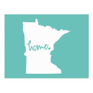 Home Minnesota Custom Colour Postcard