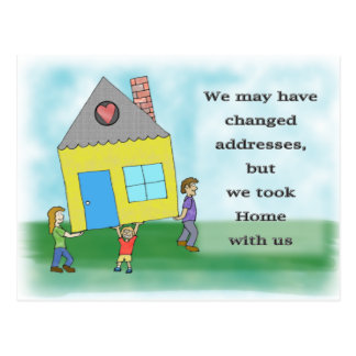 Home Moving Announcement Postcard