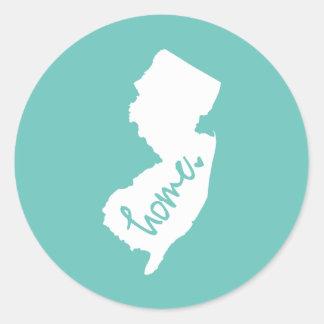 Home New Jersey Custom Colour Classic Round Sticker