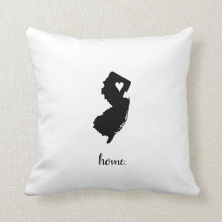 """Home"" New Jersey Throw Pillow"