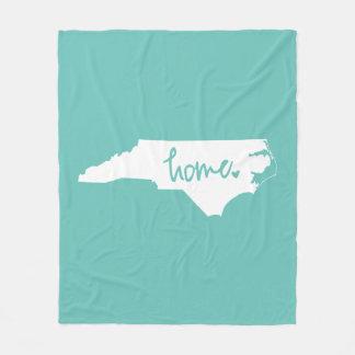 Home North Carolina Custom Color Fleece Blanket