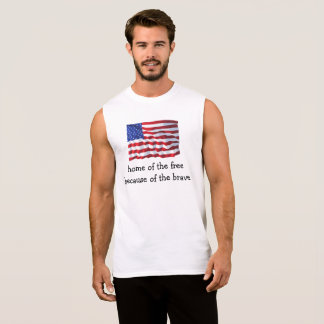 Home Of The Free American Flag Shirts