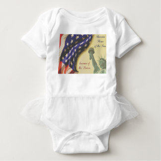 Home of the Free Baby Bodysuit