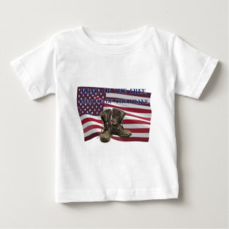 Home of the free, because of the brave. baby T-Shirt