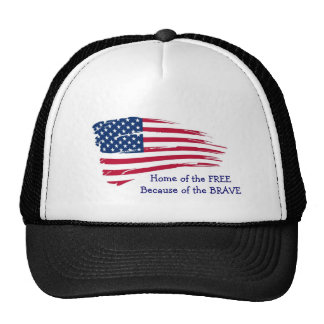 Home of the Free Wavy Flag Cap