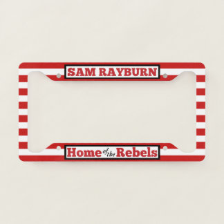 Home of the Rebels Striped License Plate Frame