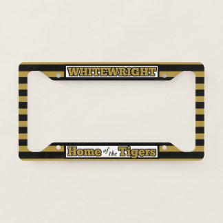 Home of the WW Tigers Striped License Plate Frame