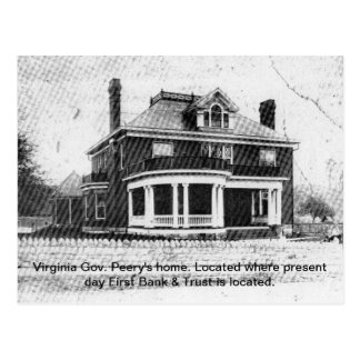 Home of Virginia Governor Peery--Wise, Virginia Postcard