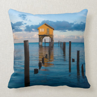 Home on the Ocean in Ambergris Caye Belize Cushion