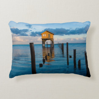 Home on the Ocean in Ambergris Caye Belize Decorative Cushion