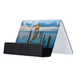Home on the Ocean in Ambergris Caye Belize Desk Business Card Holder