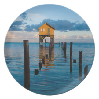 Home on the Ocean in Ambergris Caye Belize Dinner Plates
