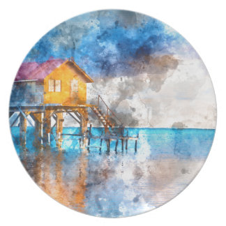 Home on the Ocean in Ambergris Caye Belize_ Plate
