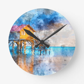 Home on the Ocean in Ambergris Caye Belize_ Round Clock