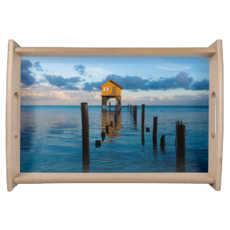 Home on the Ocean in Ambergris Caye Belize Serving Tray