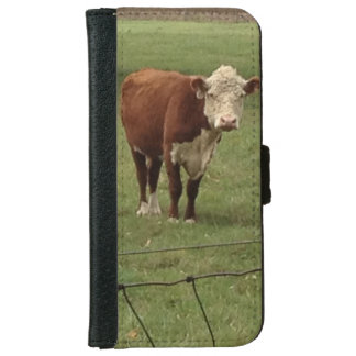 Home on the Range Hereford iPhone 6 Wallet Case