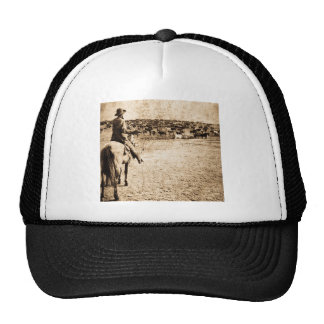 Home on the Range Vintage Cowboy Old West Mesh Hats