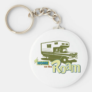 Home on the Roam retro pickup camper truck RV Key Ring