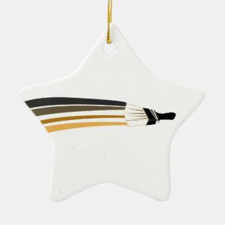 Home Painting | Artist Paint Brush Ceramic Star Decoration